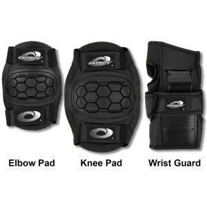 Osprey Child's 6pc Elbow, Knee & Wrist Protective Skate Pad Set, Black