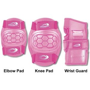 Osprey Child's 6pc Elbow, Knee & Wrist Protective Skate Pad Set, Pink
