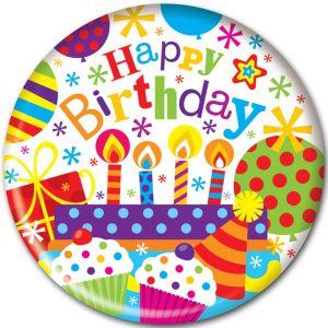 Simon Elvin Happy Birthday Jumbo Badge, 15cm - Childrens