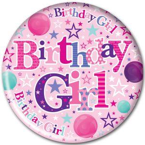 Simon Elvin Birthday Girl Jumbo Badge, 15cm