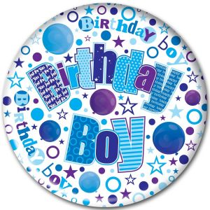 Simon Elvin Birthday Boy Jumbo Badge, 15cm