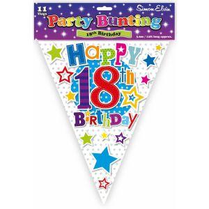 Simon Elvin Happy 18th Birthday Foil Party Bunting - Unisex