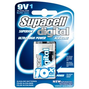 Supacell Digital Alkaline 9V Battery - Pack of 1