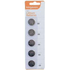 Kingavon 3V Lithium CR2032 Coin Cell Batteries - Pack of 5