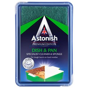 Astonish Specialist Dish & Pan Paste Cleaner with Sponge - 250g