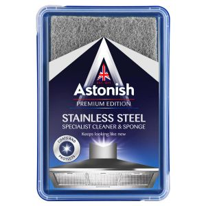 Astonish Specialist Stainless Steel Paste Cleaner with Sponge - 250g