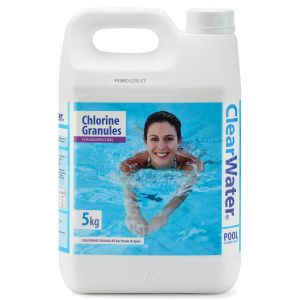 Clearwater Chlorine Granules for Pools & Spas - 5kg Jerry Can