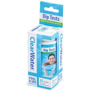 Clearwater Spa & Pool Dip Test Strips - Pack of 25