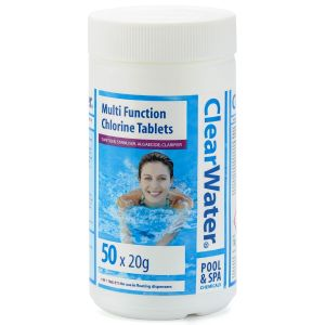 Clearwater 50 x 20g Mini Multi-Function Tablets for Pools & Spas - 1kg