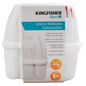 Kingfisher Large Refillable Interior Dehumidifier Moisture Absorber