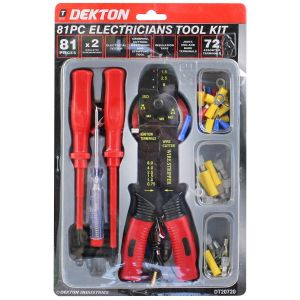 Dekton 81 Piece Electricians Crimping Tool Kit, Multi