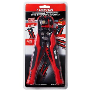 Dekton Professional Automatic Wire Stripper & Crimper, Red