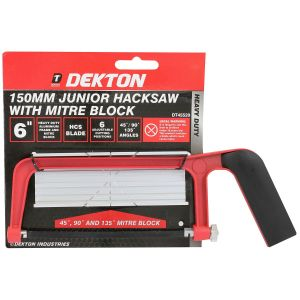 Dekton 150mm Junior Hacksaw with Mitre Block