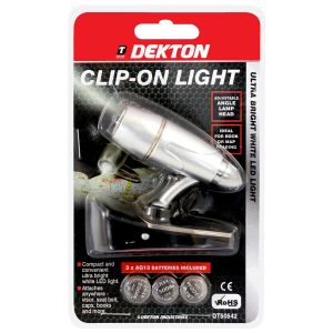 Dekton Multi-Purpose Mini LED Clip-On Light, Silver