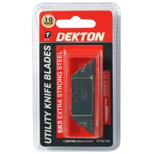 Dekton SK5 Steel Extra Strong Utility Knife Blades - Pack of 10