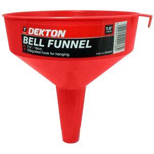 Dekton 7.5 Inch Multi-Purpose Bell Funnel, Red