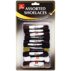 Jump Assorted Shoe Laces - Pack of 10