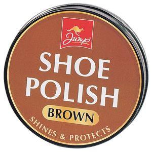 Jump Brown Shoe Polish Tin, 80g