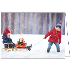 Collisons Fun In The Snow Luxury Christmas Cards - Pack of 10