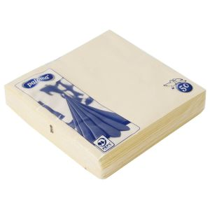 Paloma 2-Ply 40x40cm Disposable Party Napkins, Ivory - Pack of 50