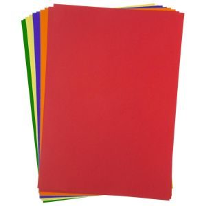 Kids Create A4 Bright Coloured Card - Pack of 10