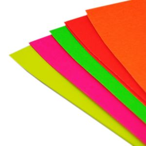 Kids Create A4 Fluorescent Card - Pack of 10