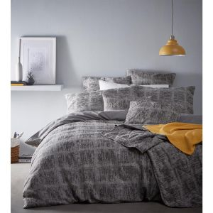Portfolio Mineral Jacquard Textured Duvet Cover and Pillowcase Set, Grey