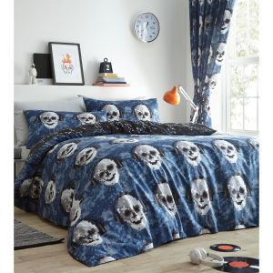 Kids' Club Pixel Skulls Duvet Cover and Pillowcase Set, Multi