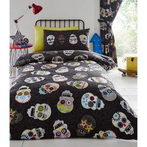 Kids' Club Sugar Skulls Duvet Cover and Pillowcase Set, Multi