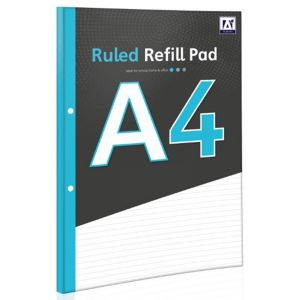 A Star A4 Wide Ruled Refill Pad, 200 Pages