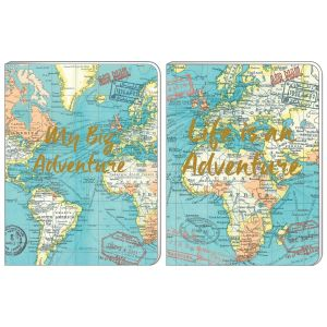 Robert Frederick Vintage Map A6 Soft Cover Notebook