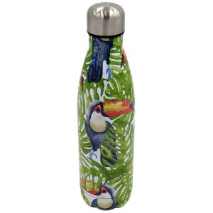 Robert Frederick Jungle Toucans Stainless Steel Hydration Bottle, Multi - 500ml