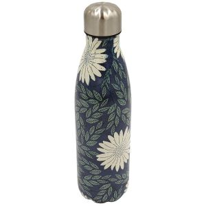 Robert Frederick Navy Daisy Stainless Steel Hydration Bottle, Multi - 500ml