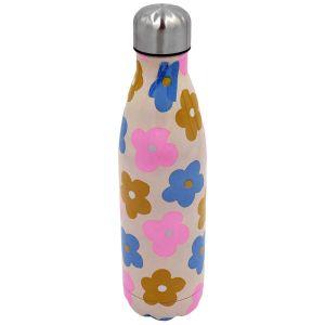 Robert Frederick Pastel Flowers Stainless Steel Hydration Bottle, Multi - 500ml