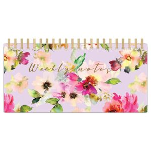 Robert Frederick Lilac Bloom Weekly Planner Desktop Organiser