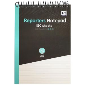 A Star Stationery 300 Page Lined Wiro Reporter's Notebook