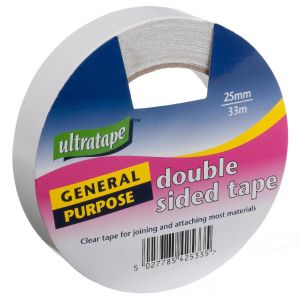 Ultratape General Purpose Double Sided Tape, 25mm x 33m