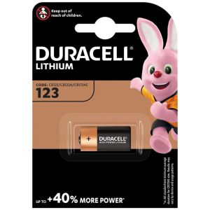 Duracell 3V Lithium 123 Battery - Pack of 1