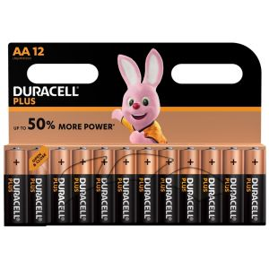 Duracell Plus Power AA Batteries - Pack of 12