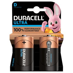Duracell Ultra Power D Size Batteries - Pack of 2