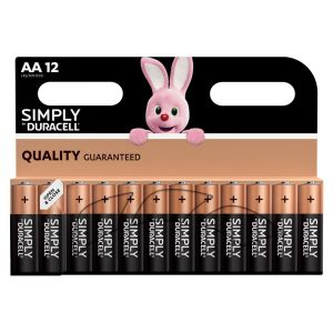 Duracell Simply AA Batteries - Pack of 12