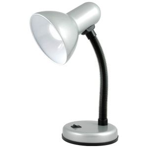 Status Palma Desk Lamp with Flexi Neck, Silver