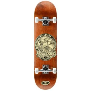 Osprey In Skate We Trust Double Kick Tail Skateboard - Brown