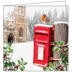 Collisons Sunday Robin Luxury Christmas Cards - Pack of 10
