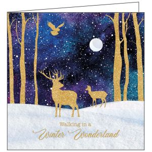 Collisons Winter Deer Luxury Christmas Cards - Pack of 10