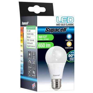 Supacell A60 E27 ES 7 Watt LED GLS Light Bulb, Warm White