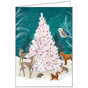 Collisons Around The Tree Luxury Christmas Cards - Pack of 10