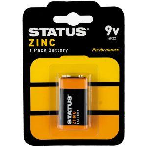 Status Zinc 9V Battery - Pack of 1
