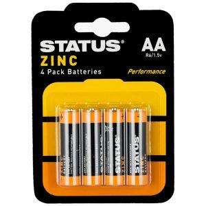 Status Zinc AA Batteries - Pack of 4