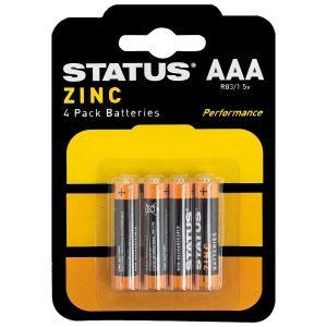 Status Zinc AAA Batteries - Pack of 4